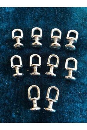 izmir Bitpazarı Metal Perde Düğmesi - ( Gümüş Renk ) 15 Adet -