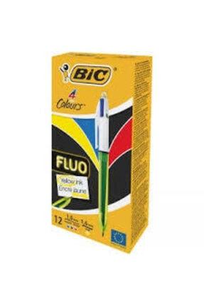 Bic Bıc Fluo 4 Colors Medıum Uçlu Tükenmez Kalem (12'li Kutu) 933948