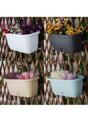 bimbambom 4'lü Askılı Balkon Saksısı , 4.8lt Çiçek Saksısı 31 Cm Sh200