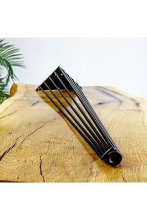 Tem Metal Tasarım Dekoratif Metal Masa Ayak Sehpa Ayak 9 Tel Tasarımlı Siyah 72 cm Tekli