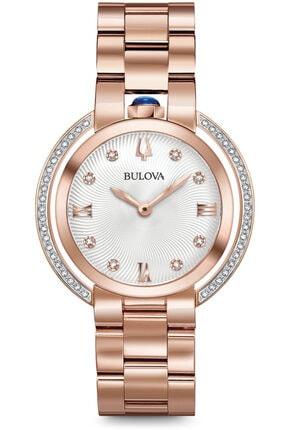 Bulova 98r248 Pırlanta Taşlı 3 Yıl Garantili Kadın Kol Saati