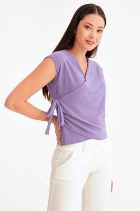 Fulla Moda Kruvaze Yaka Bağcıklı Kolsuz Bluz