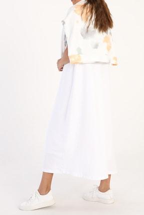 ALLDAY Kadın Beyaz Kolsuz Basic Içlik Elbise