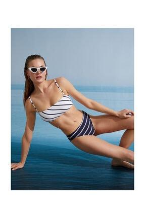 Koton Kadın Lacivert Çizgili Bikini Altı 1YAK88245BM