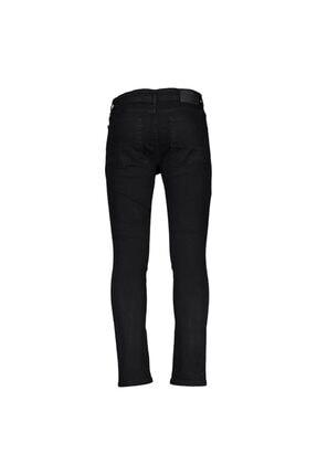 Collezione Siyah Erkek Sıyah Spor Skinny Denim Pantolon
