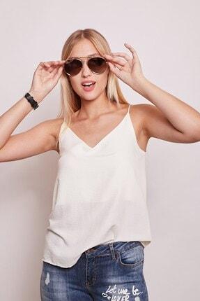 Jument Iç Göstermez Viskon Poplin Ip Askılı Bluz