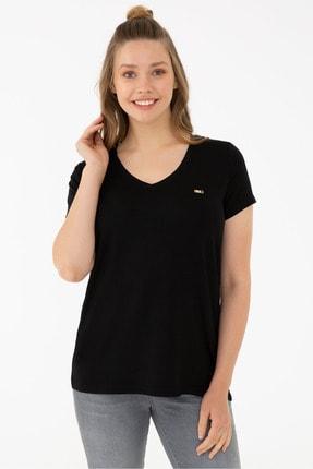 U.S. Polo Assn. Sıyah Kadın T-Shirt