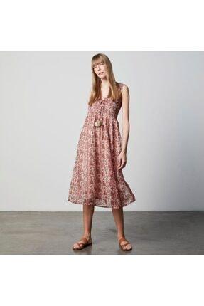 Mudo Etnik Floral Elbise