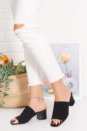 ebyesun Kadın Topuklu Triko Terlik