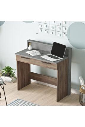 Yurudesign New Home Çalışma Masası Çekmeceli Beton-kahve Hm7-cg