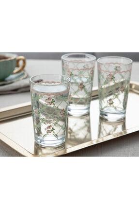 English Home Rosalinda 1 Cam 6'lı Kahve Yanı Su Bardağı 100 Ml Pembe - Yeşil