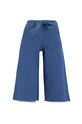 DeFacto Kız Çocuk Culotte Jean Kapri Boy Pantolon