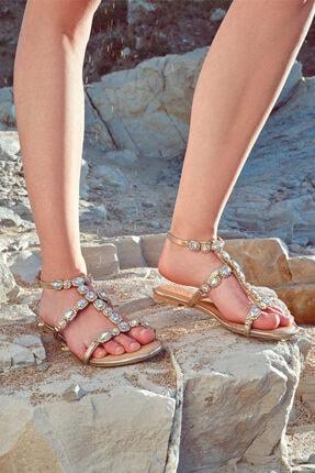Derimod Kadın Casual Taş Detaylı Sandalet