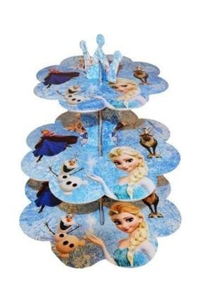 REST Parti - Frozen Elsa 3 Katlı Muffin Kek Standı Doğum Günü Parti Kutlama Cupcake Pijamaskeliler