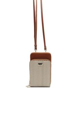 Silver Polo Sılver Polo Bej Iki Bölmeli Kadın Cüzdan & Kartlık/çapraz Askılı Telefon Cüzdanı Sp1011