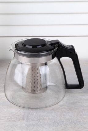 Perotti - Sefa Perotti Renkli Süzgeçli Cam Demlik 900 ml Kahve Ve Bitki Çayı Çaydanlık Renkli