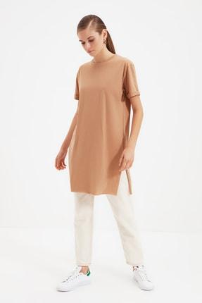 Trendyol Modest Bej Örme T-Shirt TCTSS21TN0056
