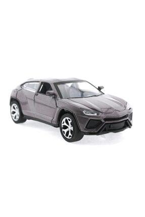 MEGA Çek Bırak Lamborghini Benzeri Simli Kahve Metal Araba