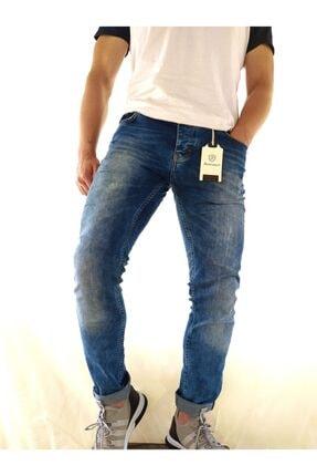 fashion park Erkek Kot Pantolon Mavı Dar Kesim Likralı Jean