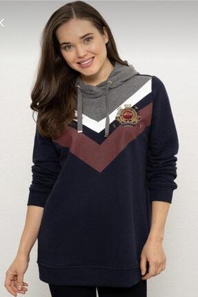 U.S. Polo Assn. Kadın Sweatshirt Kapüşonlu Diz Altı