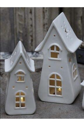 Spring&Kos Porselen Işıklı Ev Orta