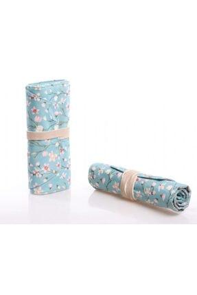 KAUKKO Roll Art Çiçek Desenli Rulo Kalem Çantası