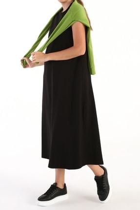 ALLDAY Kadın Siyah Kolsuz Basic Içlik Elbise
