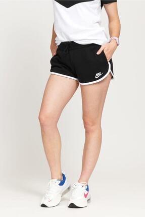 Nike Kadın Siyah Sportswear Heritage Fleece Şort Ar2414-010