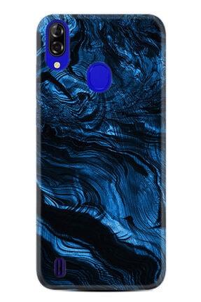 Reeder P13 Blue Plus Kılıf Desenli Silikon Kılıf Blue Marble 1379
