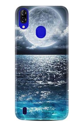 Reeder P13 Blue Plus Kılıf Desenli Silikon Kılıf Great Moon 1301