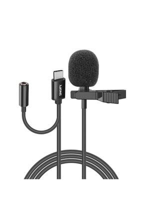 Snopy Sn-mtk45 Siyah Type-c Akıllı Telefon, Tik-tok Ve Youtuber Kulaklık Çıkışlı Yaka Mikrofonu