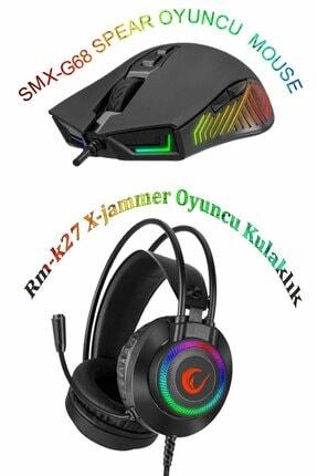 Rampage Hm-27/68 Rgb Ledli Rm-k27 X-jammer & Smx-g68 Spear Gaming Oyuncu Mikrofonlu Kulaklık+mouse