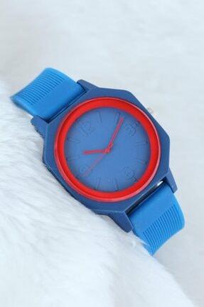 Choppers Lacivert Renk Kırmızı Detaylı Spor Kasa Tasarımlı Silikon Kordonlu Saat