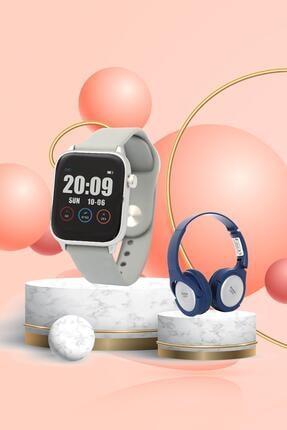 Daniel Klein Smart Watch Gri Akıllı Saat +bluetooth Kulaklık + Ekran Koruyucu