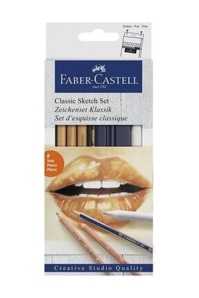 Faber Castell Klasik Sketch Seti 6 Parça 114004