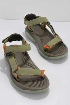 Bambi Kadın Yeşil Düz Sandalet K05846050004
