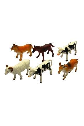 Vardem Oyuncak Çiftlik Hayvan Seti 6 Parça 13 cm
