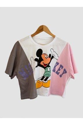 Mickey Mouse Baskılı Oversize Tişört