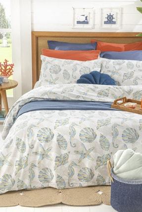 English Home Sea Pop Pamuklu Çift Kişilik Nevresim Seti 200x220 Cm Mavi