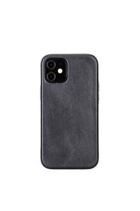 PLM Rock Cover Deri Telefon Kılıfı Iphone 12 Mini Uyumlu G2 Kahve
