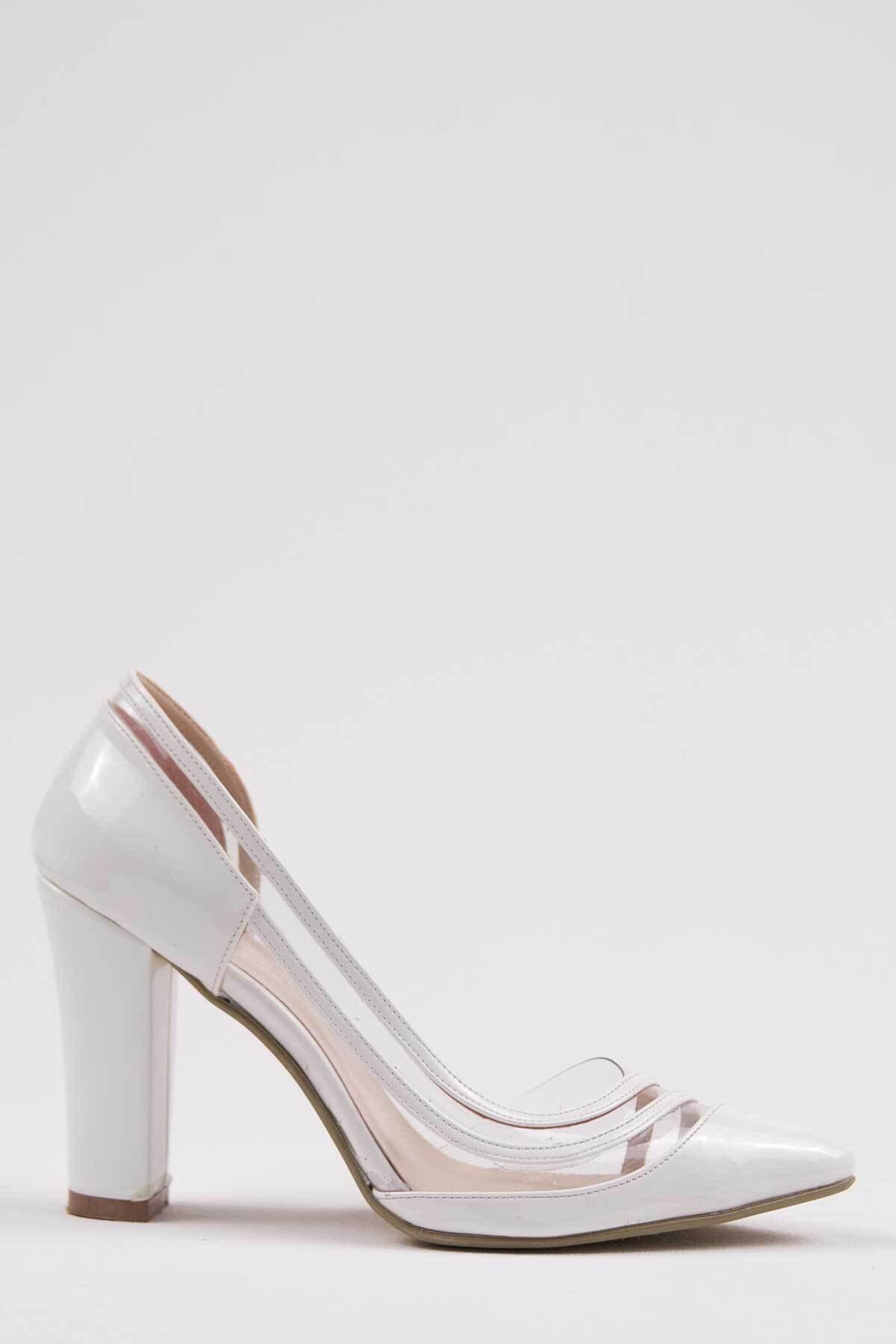 Oioi Beyaz Kadın Topuklu Ayakkabı 1010-119-0001_1003 1