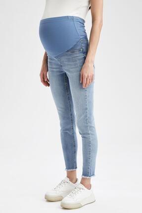 DeFacto Skinny Fit Yırtık Detaylı Jean Hamile Pantolonu