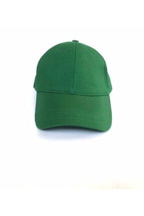 salarticaret Unisex Koyu Yeşil Spor Arkası Cırtlı Ayarlanabilir Şapka 55-60 Cm