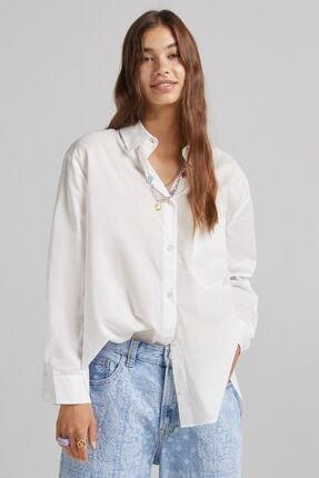 Bershka Cepli Oversize Uzun Kollu Gömlek