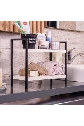 Proud Wave Metal Masa Servis Rafı Dekoratif Mutfak Banyo Düzenleyici Baharatlık Rafı