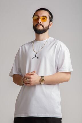 JACKS MAN Beyaz Oversize T-shirt