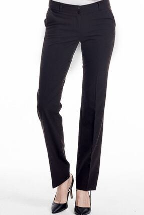 Hanezza Düşük Bel Yan Cep Kumaş Pantolon - Siyah