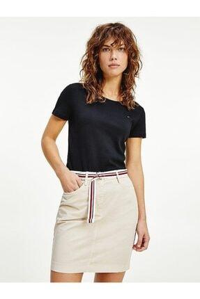 Tommy Hilfiger Kadın Siyah Pamuklu T-shirt