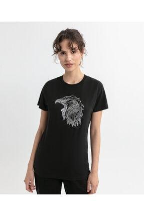 Beşiktaş Kadın Siyah Eagle Sketch T-shırt 8020135