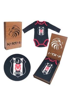 BJK Store Beşiktaş Kartal Yuvası Orijinal Lisanslı Uzun Kol Zıbın Body Siyah